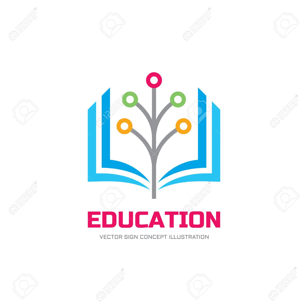 Education Vector Logo Concept Illustration School Logo Sign