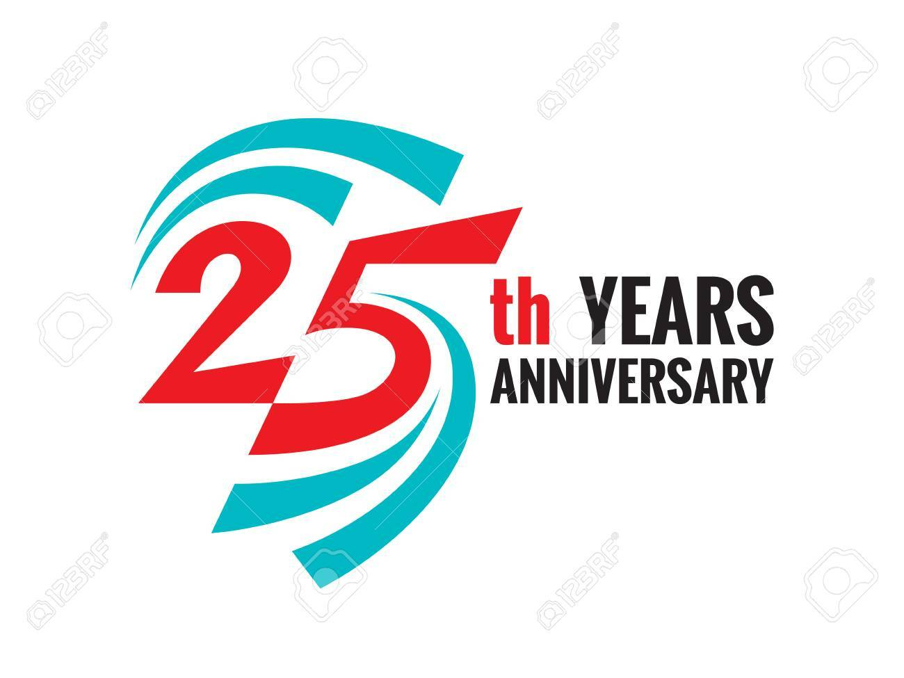 creative emblem 25 th years anniversary twenty five template rh 123rf com 25 years logo hd 25 years logo hd