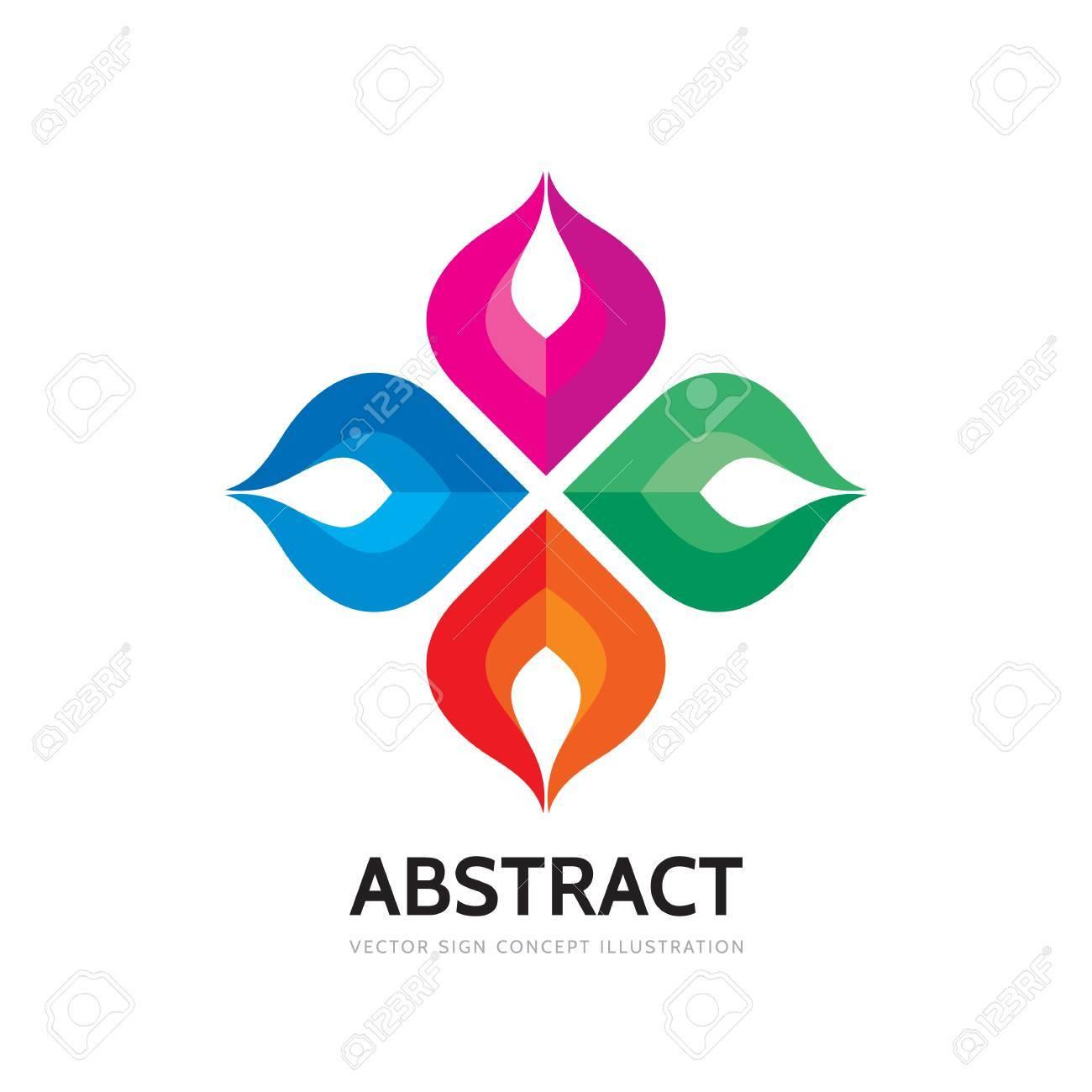 Resumen Vector Logo Plantilla Ilustración. Signo Creativo De ...