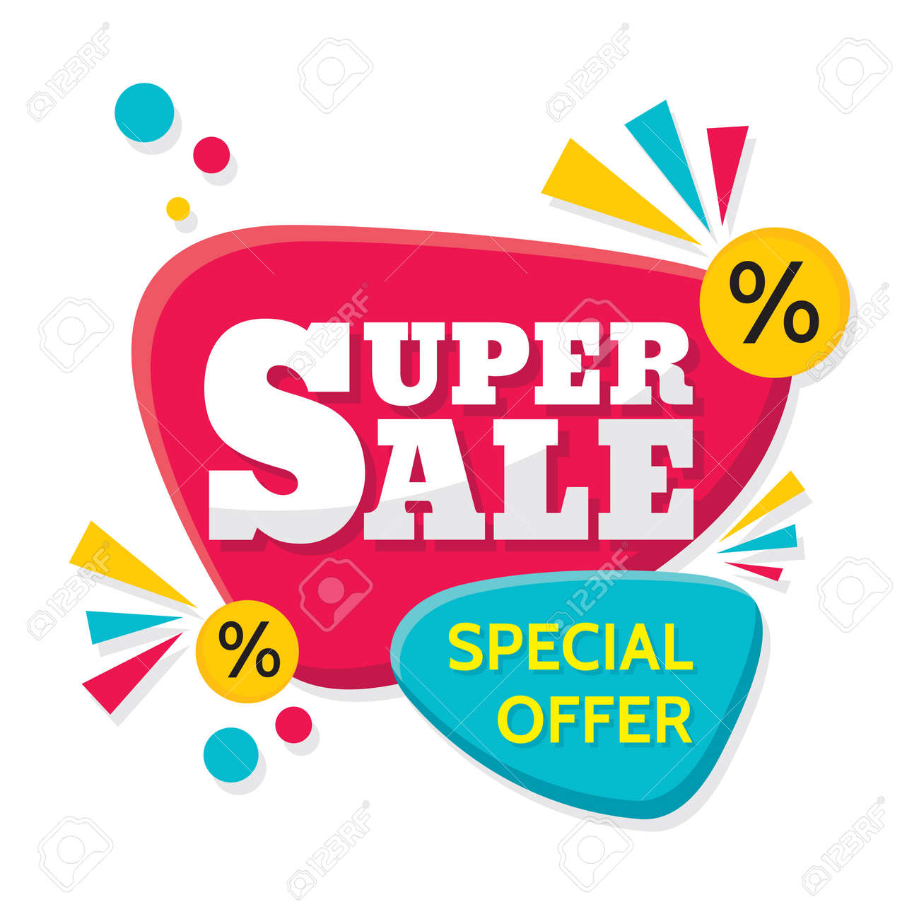 Super Sale Vector Creative Banner Illustration Abstract Concept