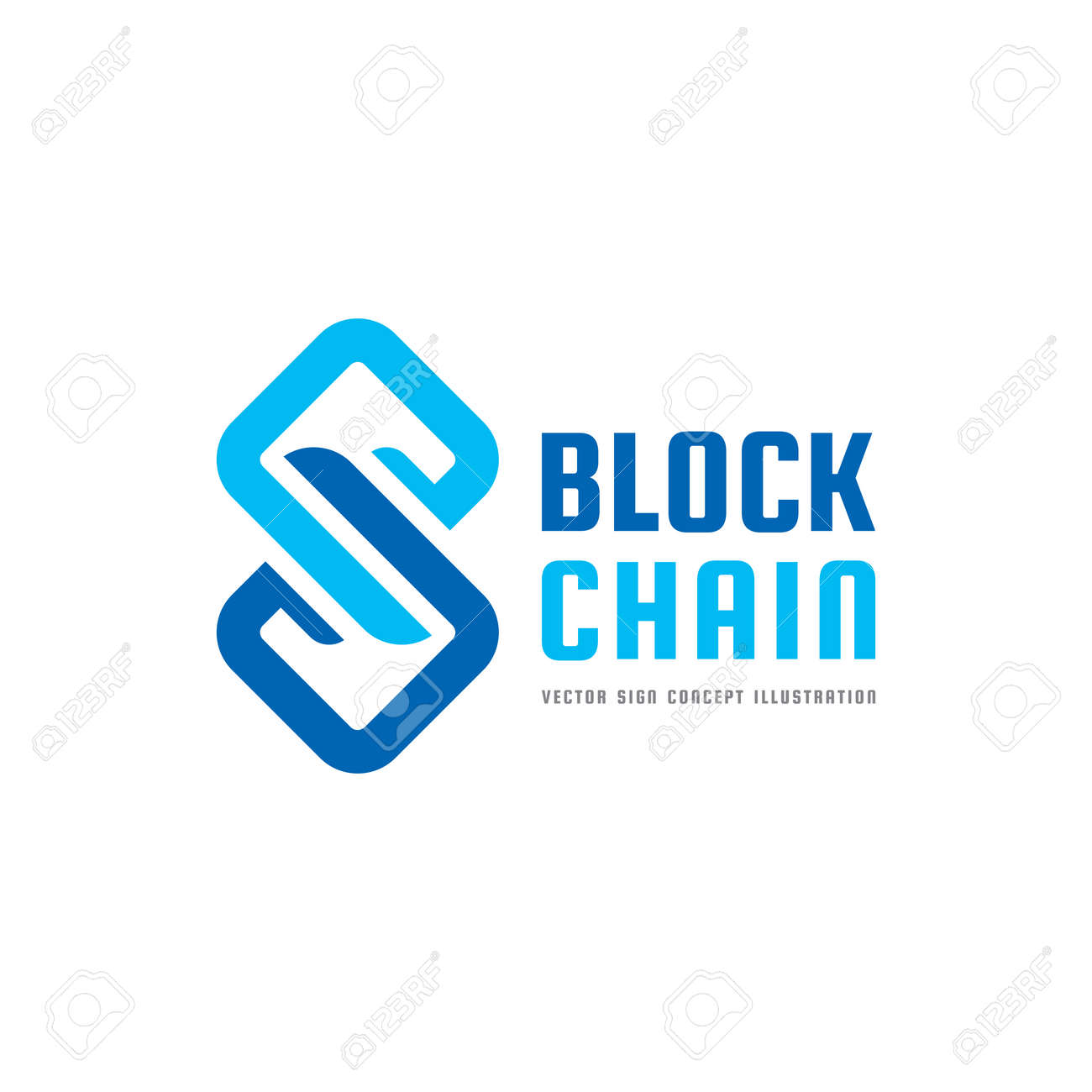 Blockchain technology vector logo template concept illustration blockchain technology vector logo template concept illustration abstract geometric business sign digital crypto wajeb Images