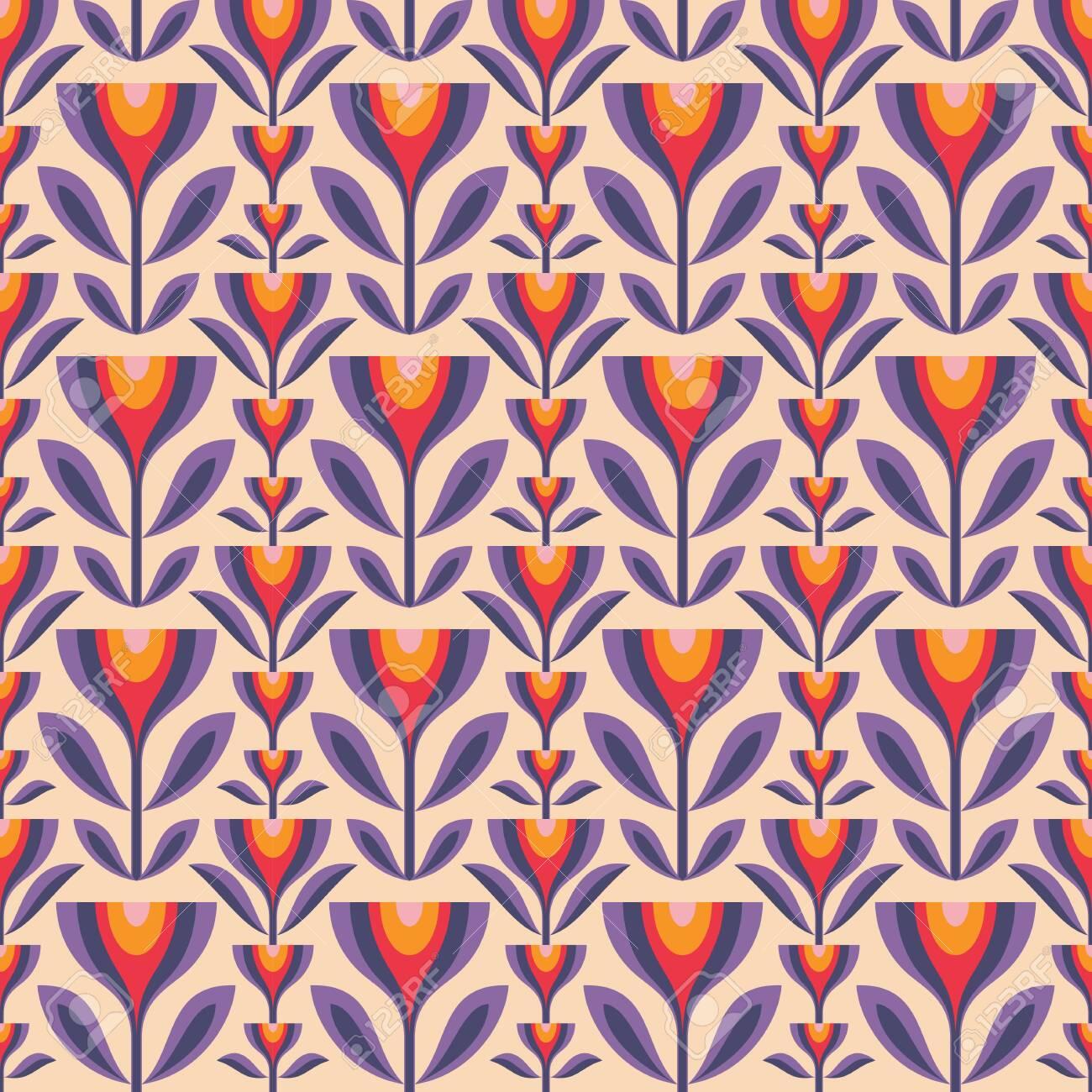 Mid Century Modern Art Pattern
