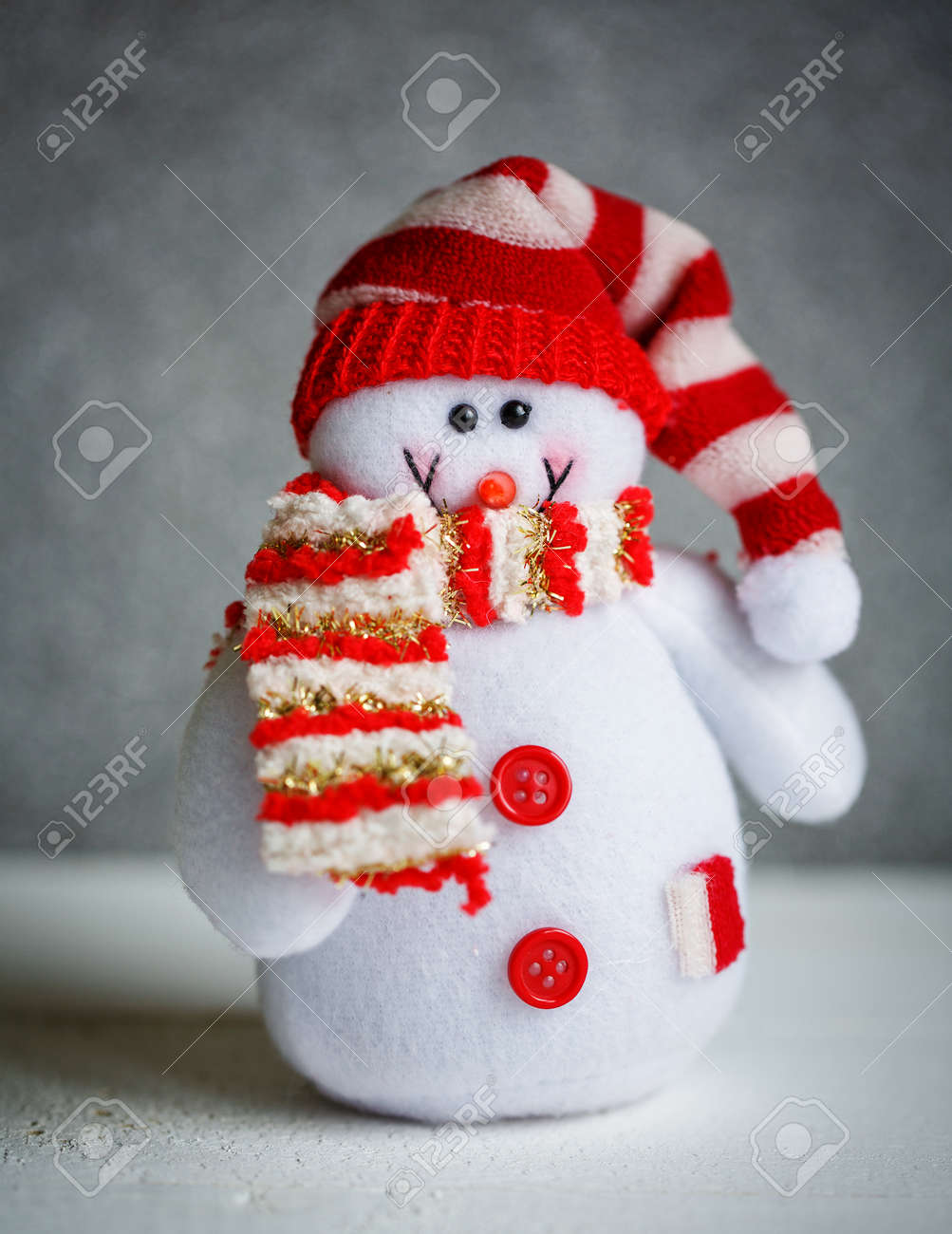 christmas snowman decorations for new year holiday decorations stock photo 94295408