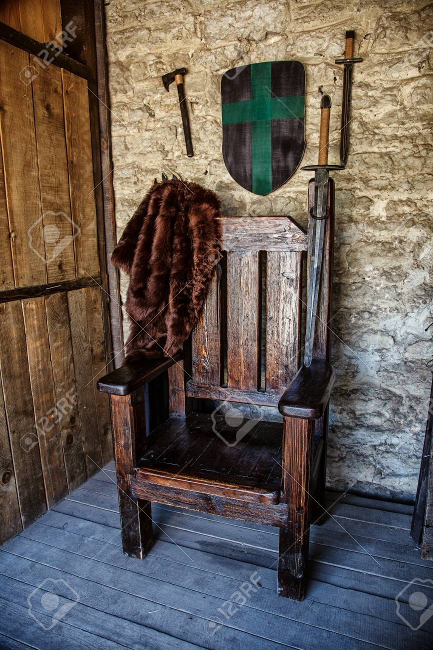 Magnificent Vintage Throne Chair Wooden Throne In Castle Beutiful Home Inspiration Ommitmahrainfo
