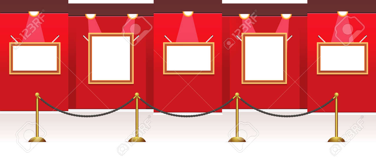 vector gallery room for your images, it is easy to resize frames and place your photo or pictures Stock Vector - 5393014
