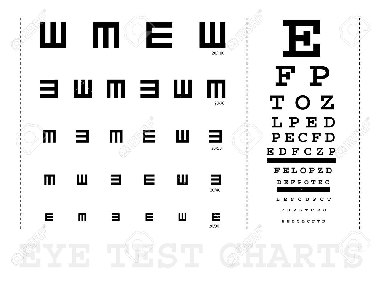 Snellen eye test charts for children and adults royalty free snellen eye test charts for children and adults stock vector 6795989 geenschuldenfo Gallery