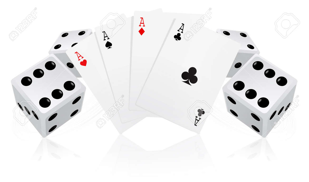 Playing cards with dices Stock Photo - 7234978