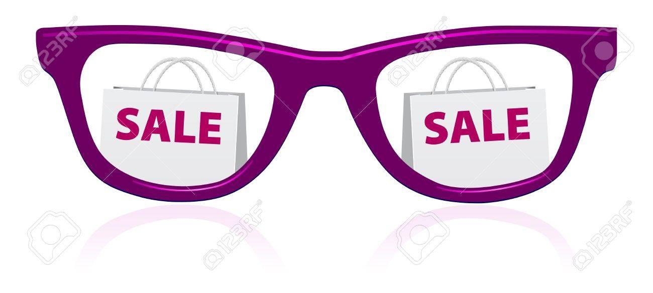 vector sale sunglasses icon Stock Vector - 7489803