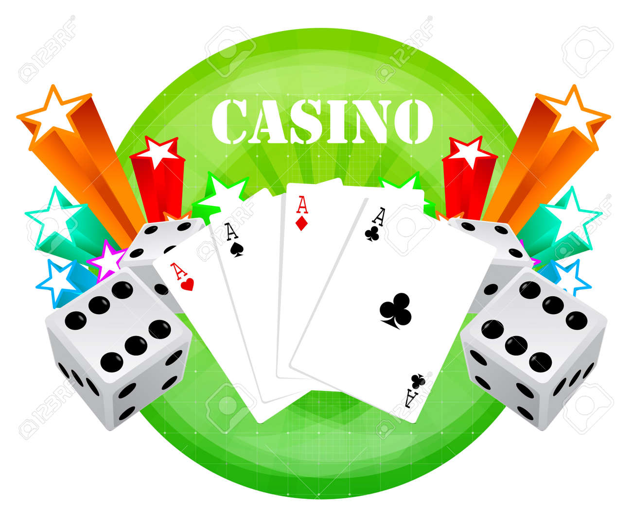 gambling illustration with casino elements Stock Vector - 7744308