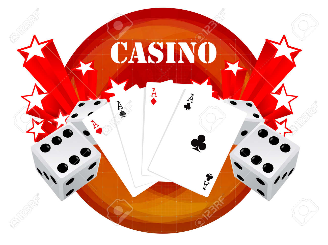 gambling illustration with casino elements Stock Vector - 7744309
