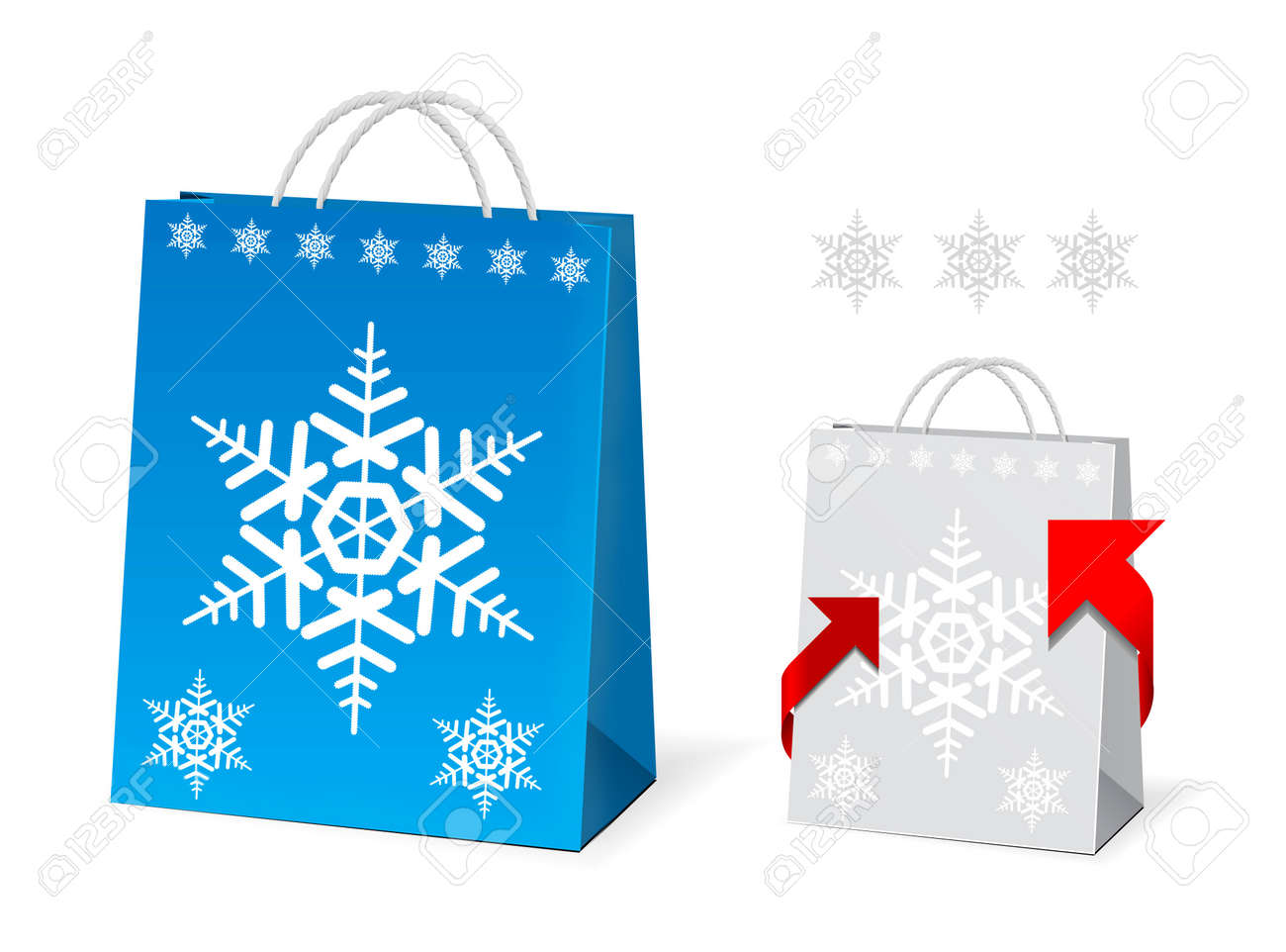 Christmas Paper Bag Design Royalty Free Cliparts, Vectors, And ...