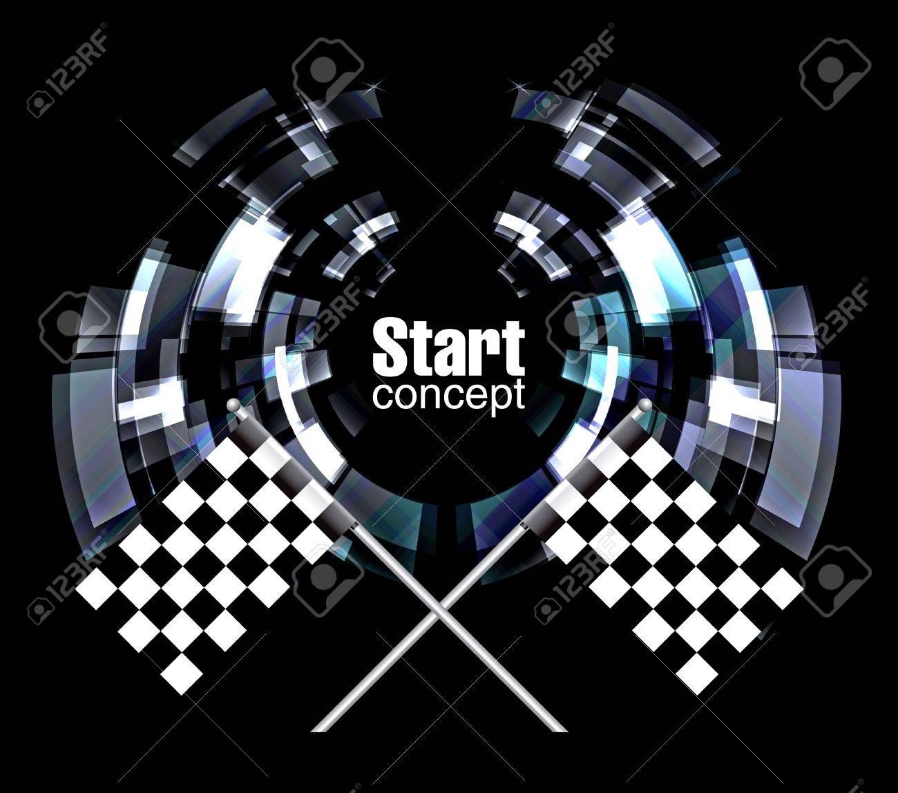 Checkered Background, eps10 on black Stock Vector - 8347226