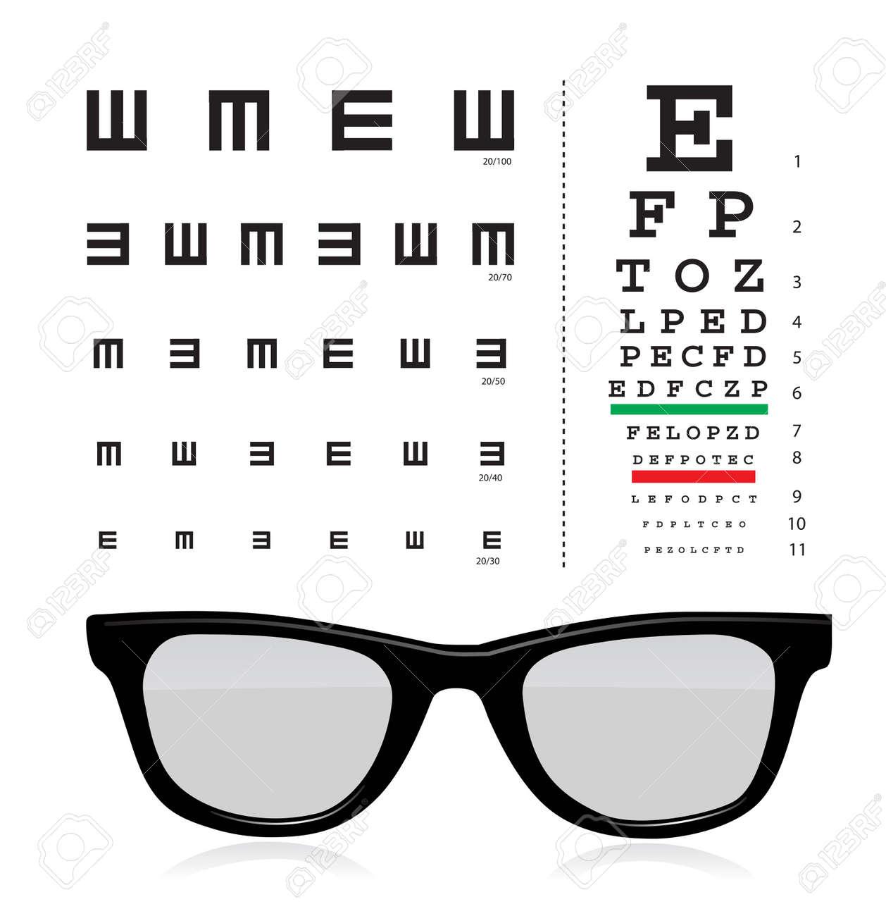 Eyeglasses Test Clip Art