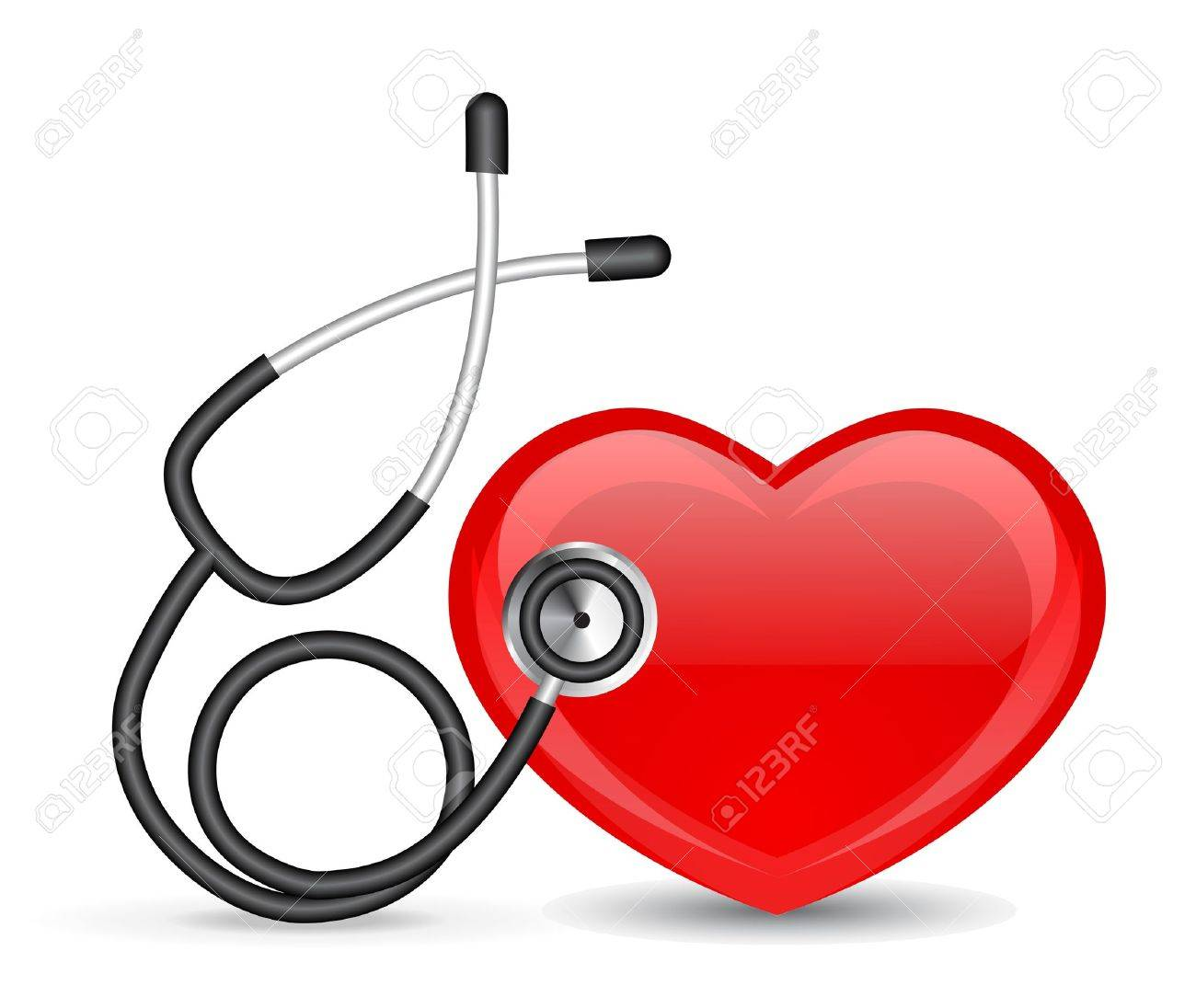 Stethoscope and heart Stock Vector - 9214128