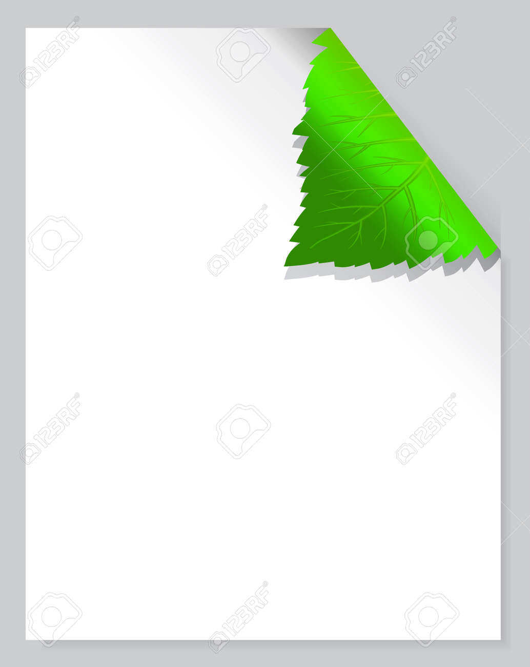 Leaf Page Stock Vector - 9804797