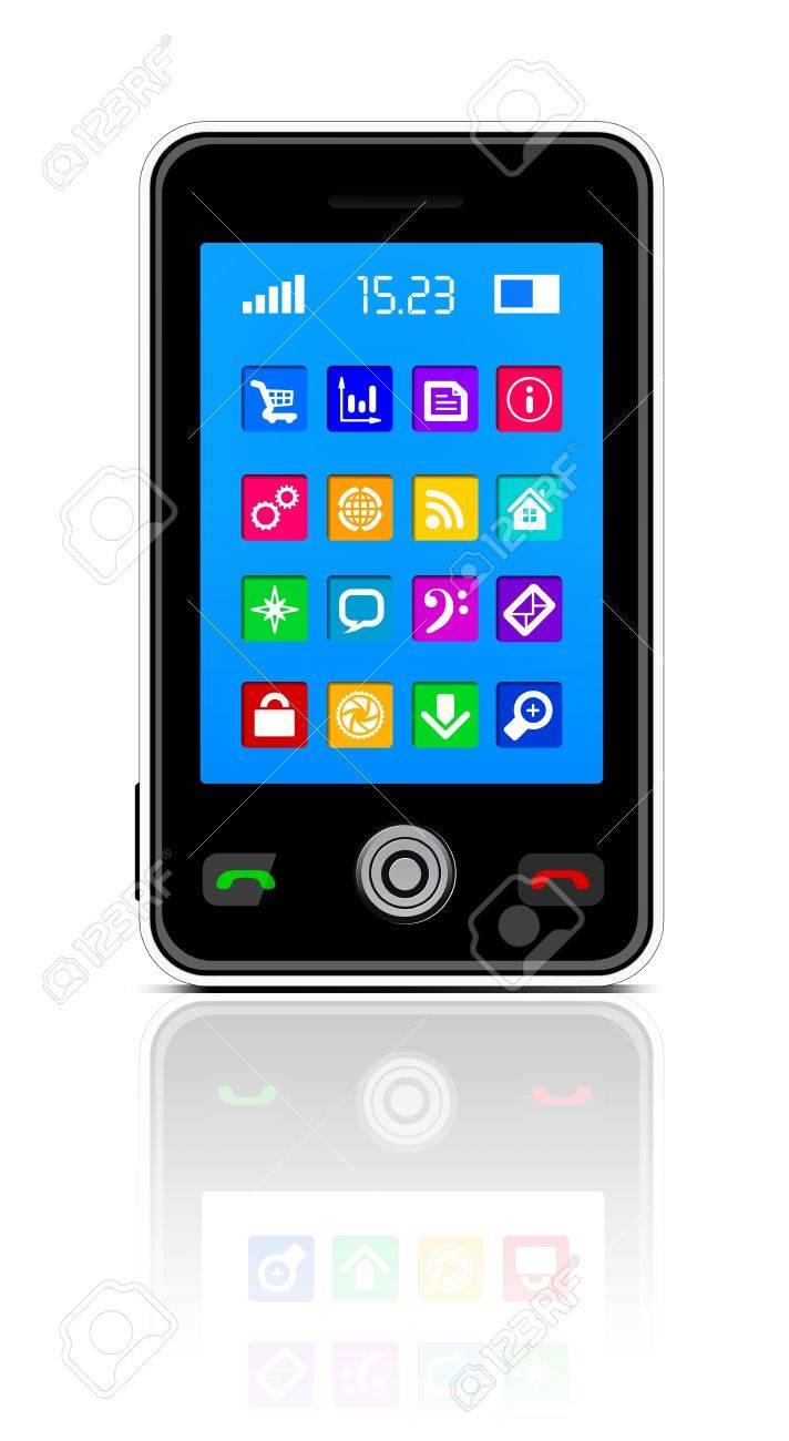 Touchscreen smartphone Stock Vector - 11156528