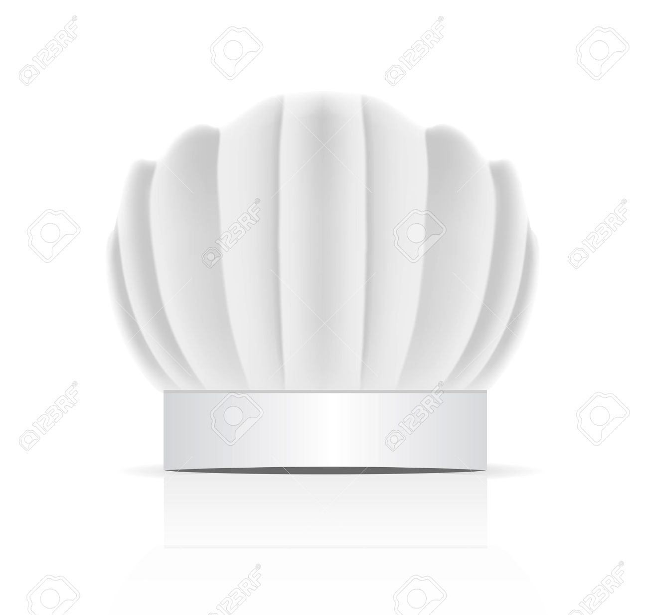 chefs hat traditionally called a toque blanche Stock Vector - 11917155