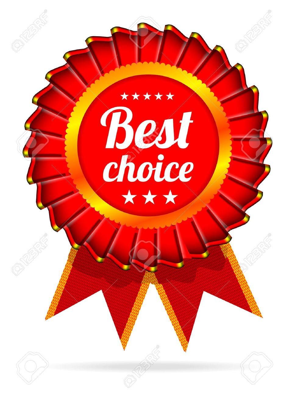Best choice red label with ribbons Stock Vector - 12013029