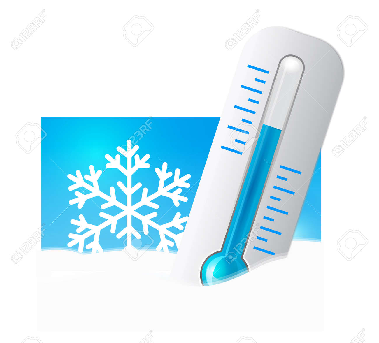 Thermometer in the snow Stock Vector - 12156783
