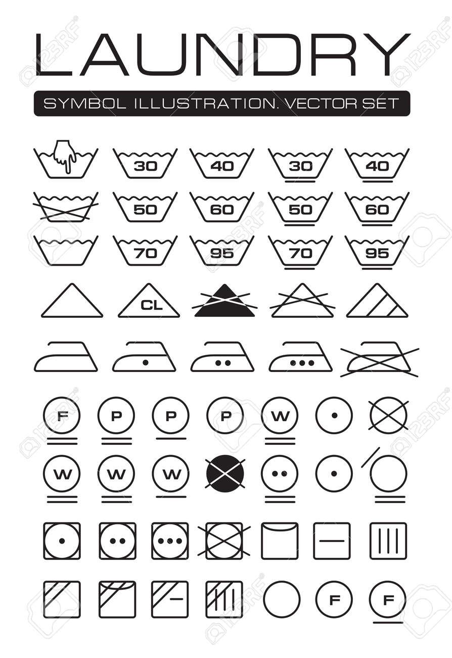 Laundry symbols laundry symbols w quidexpat laundry symbols laundry symbols collection stock vector 14255363 buycottarizona Gallery