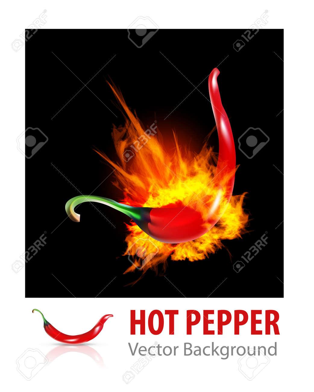 Burning Chili Pepper Stock Vector - 14617291