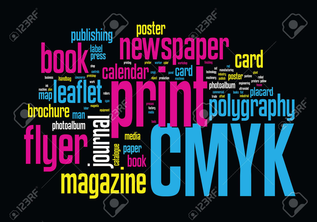 Printing Word Cloud Stock Vector - 15050657
