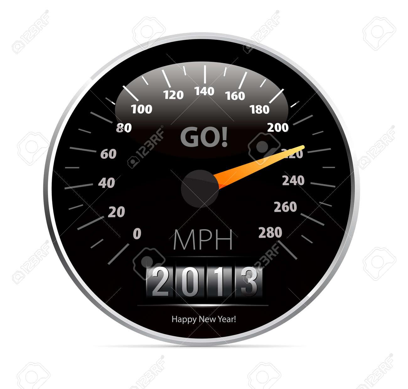 speedometer with 2013 counter in vector Stock Vector - 16004444