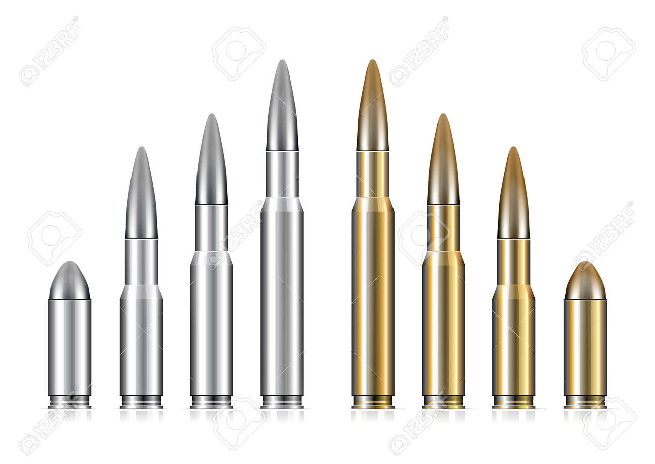 Set of bullets Stock Vector - 16953556