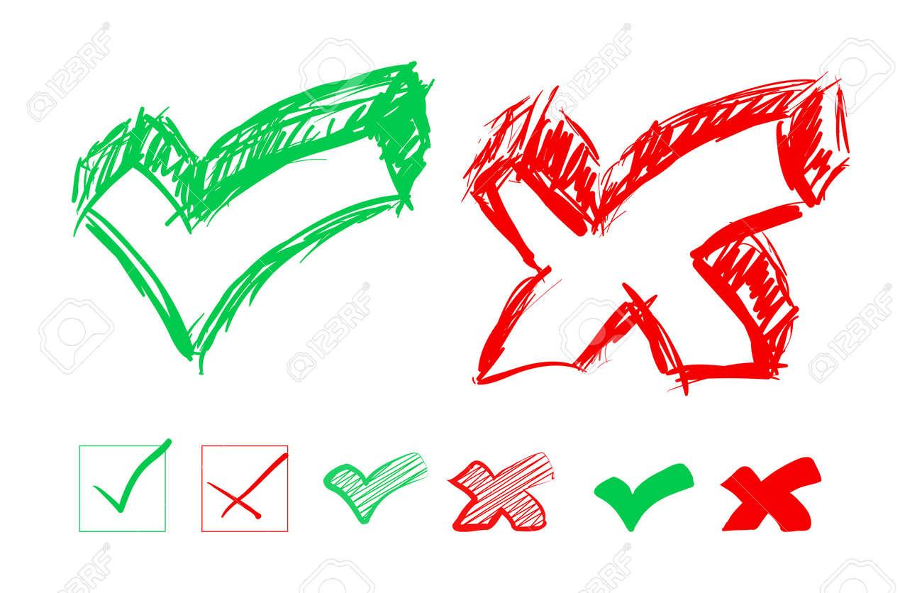 Set of hand-drawn check marks Stock Vector - 18215747