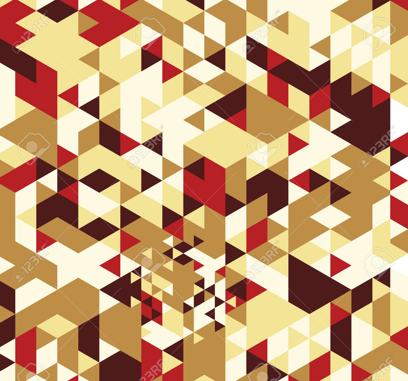 Geometric hipster retro background. Retro triangle vector background Stock Photo - 21151390