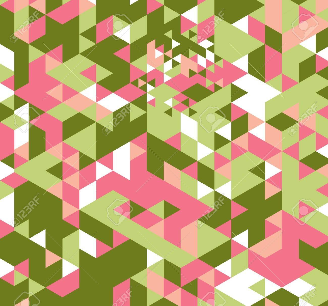 Geometric hipster retro background. Retro triangle vector background Stock Photo - 21151396