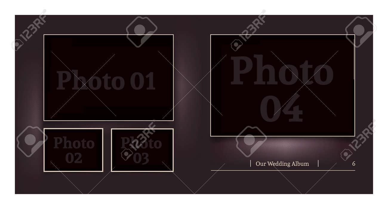 Wedding Album Design For The Photographer. Put Your Photos Into ...