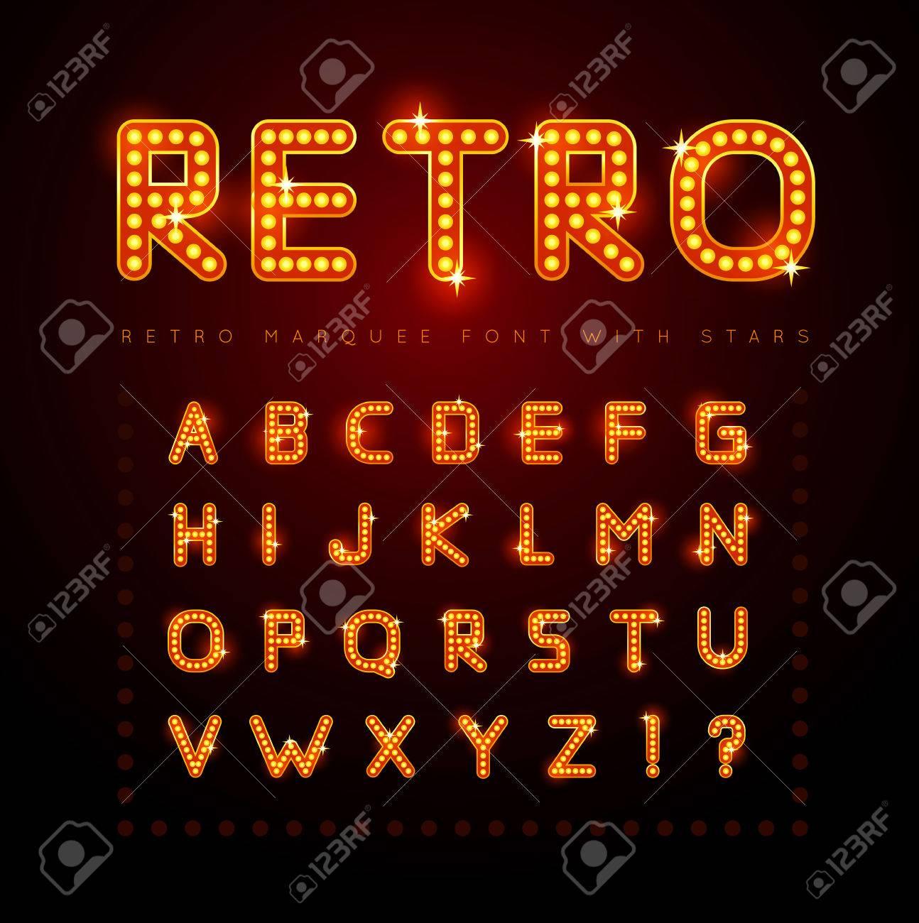 Retro font - 32392412