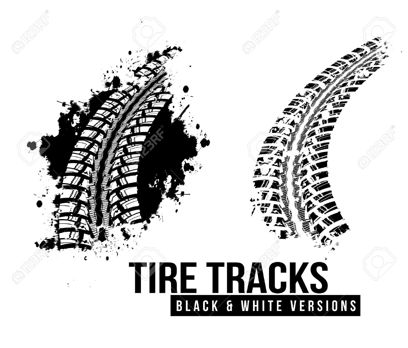 Tire track background - 32807244