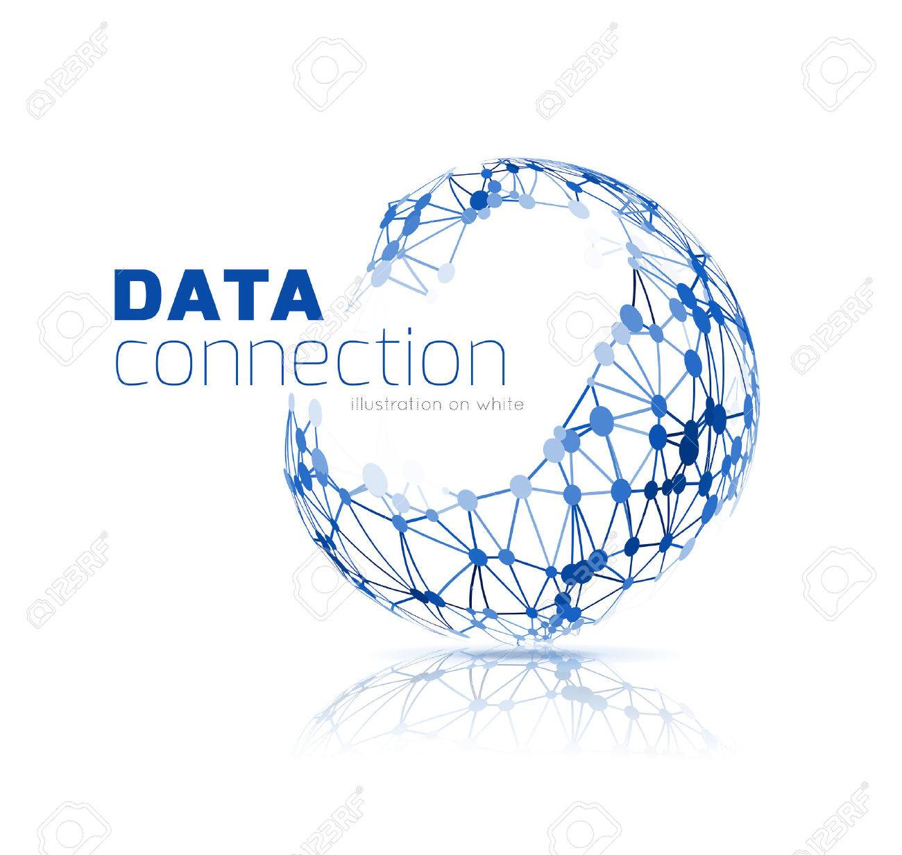 Abstract network connection background - 35282554