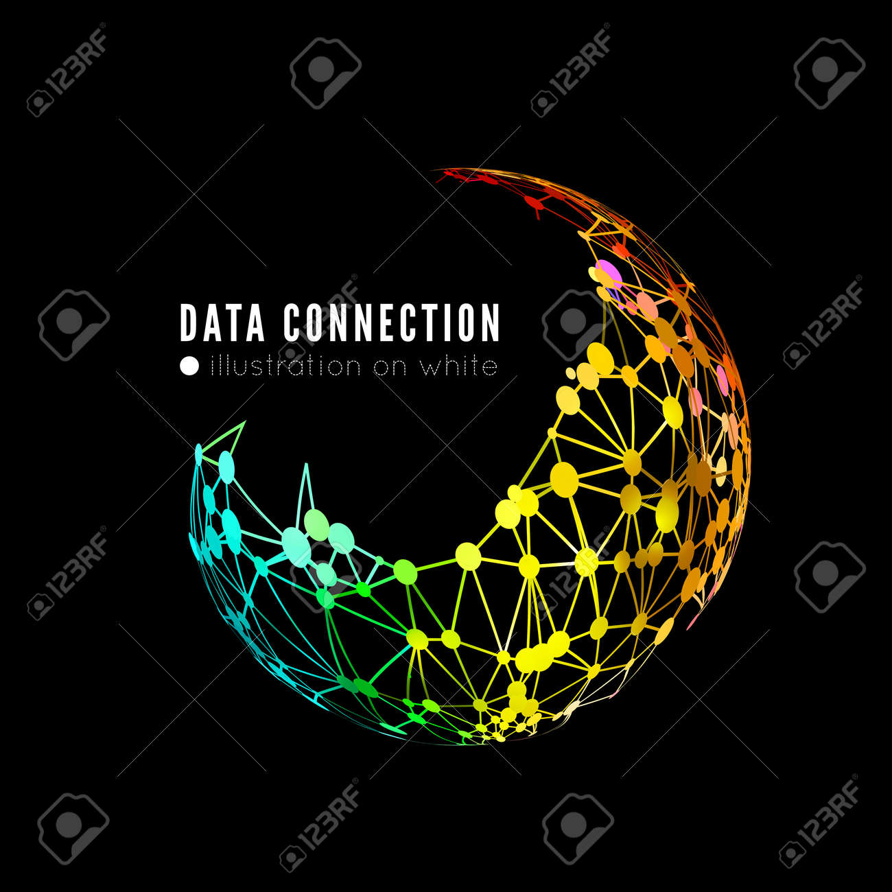 Abstract network connection background - 35282564