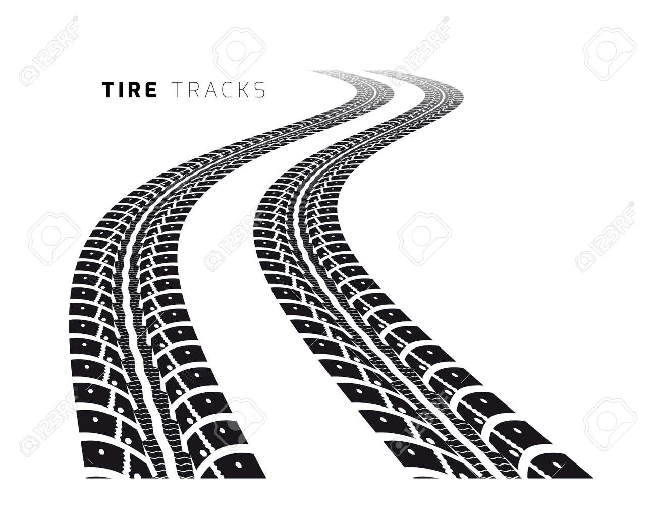 Tire tracks - 35998828