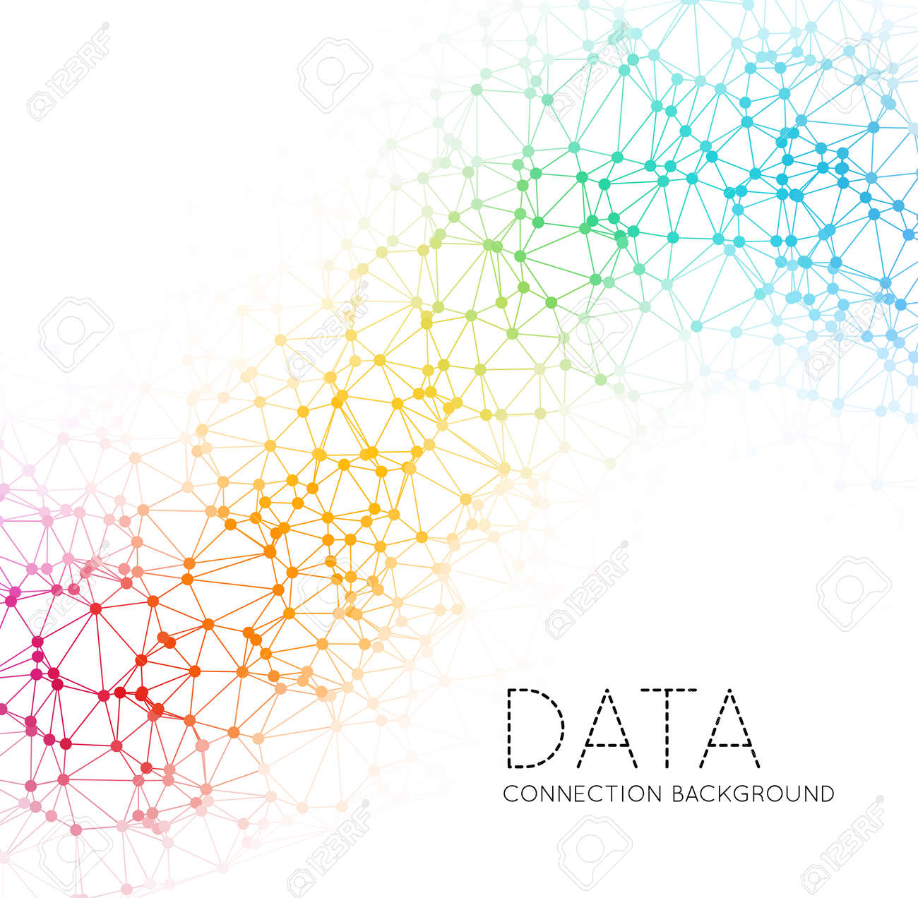Dots with connections, triangles light background - 38614425