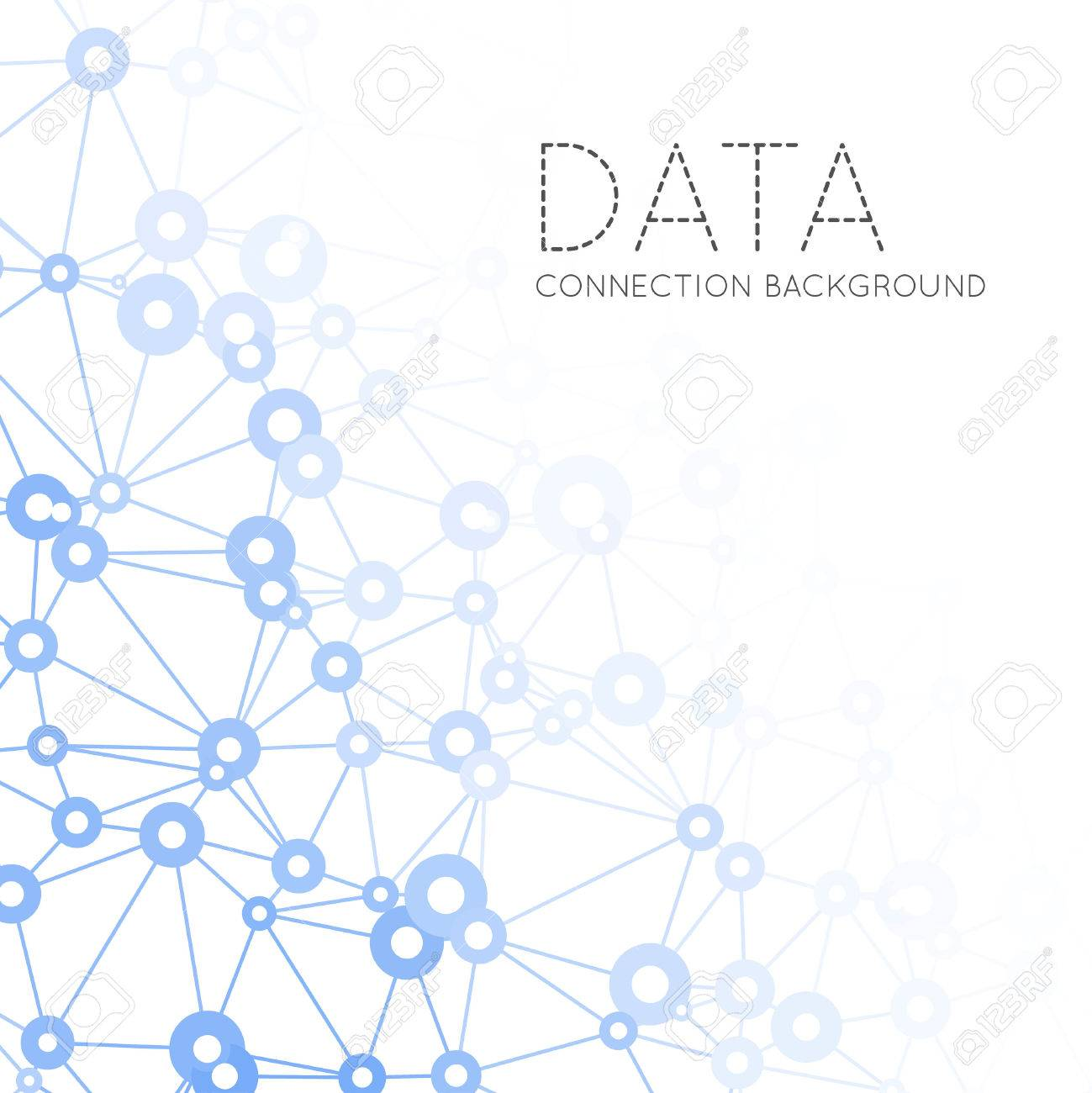 Dots with connections, triangles light background - 38614426