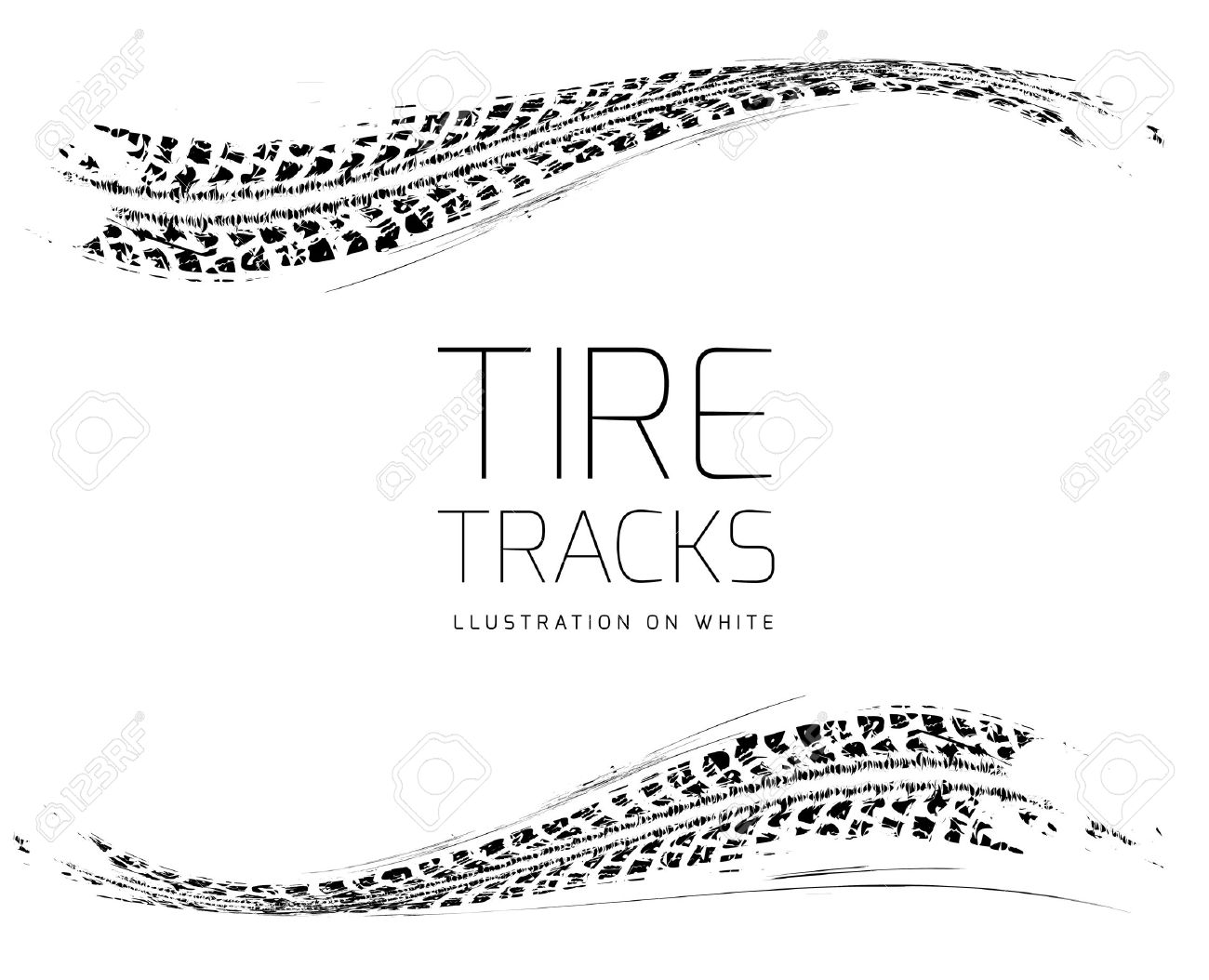 Tire tracks background - 38663678