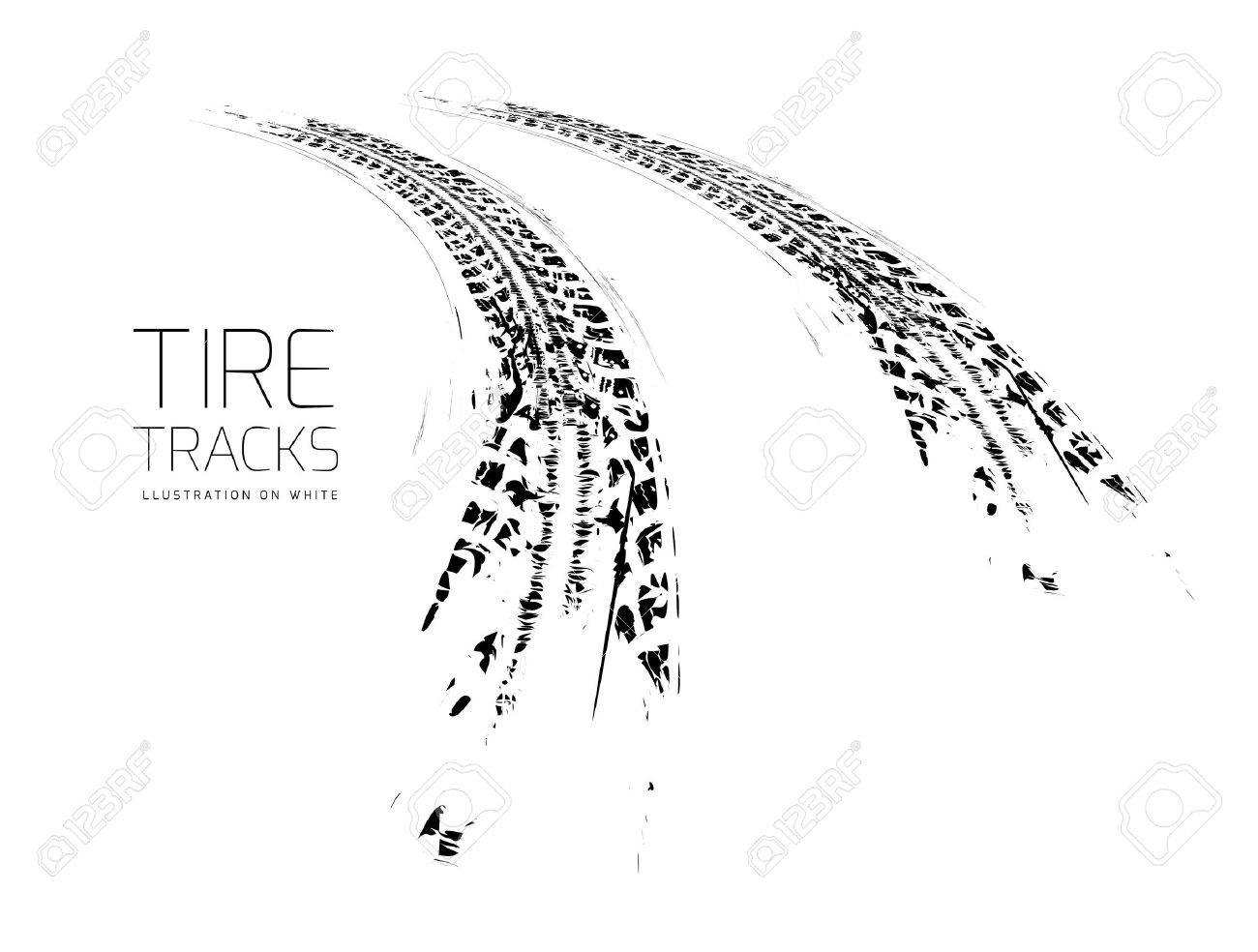 Tire tracks background - 38663685