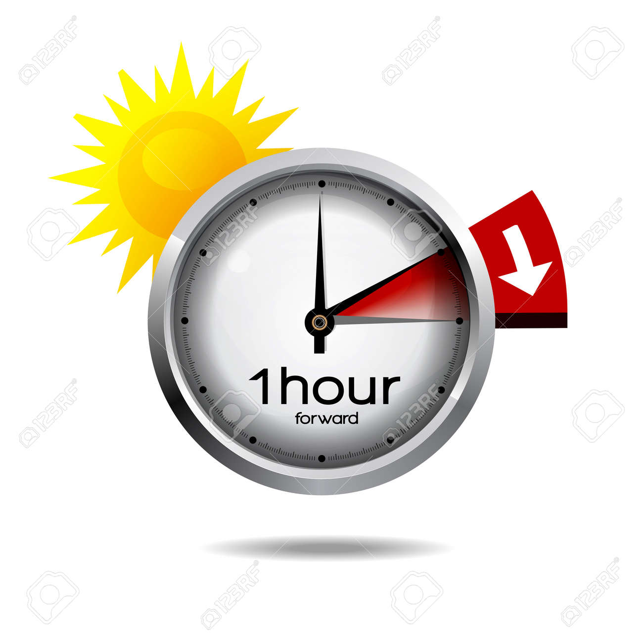 Clock switch to summer time daylight saving time - 39226434