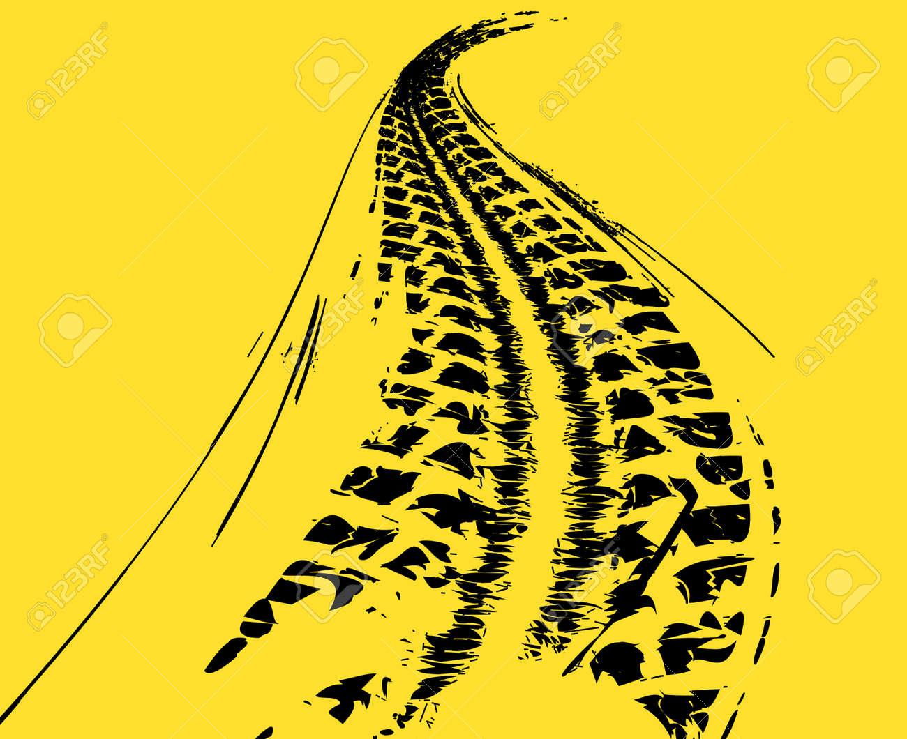Tire tracks background - 39490997