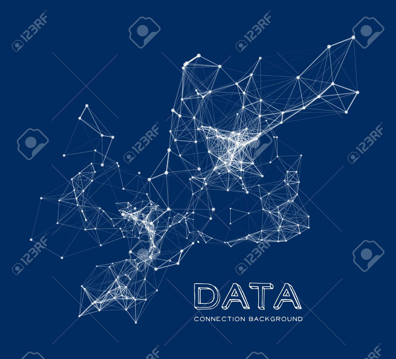 Abstract network connection background - 40065481