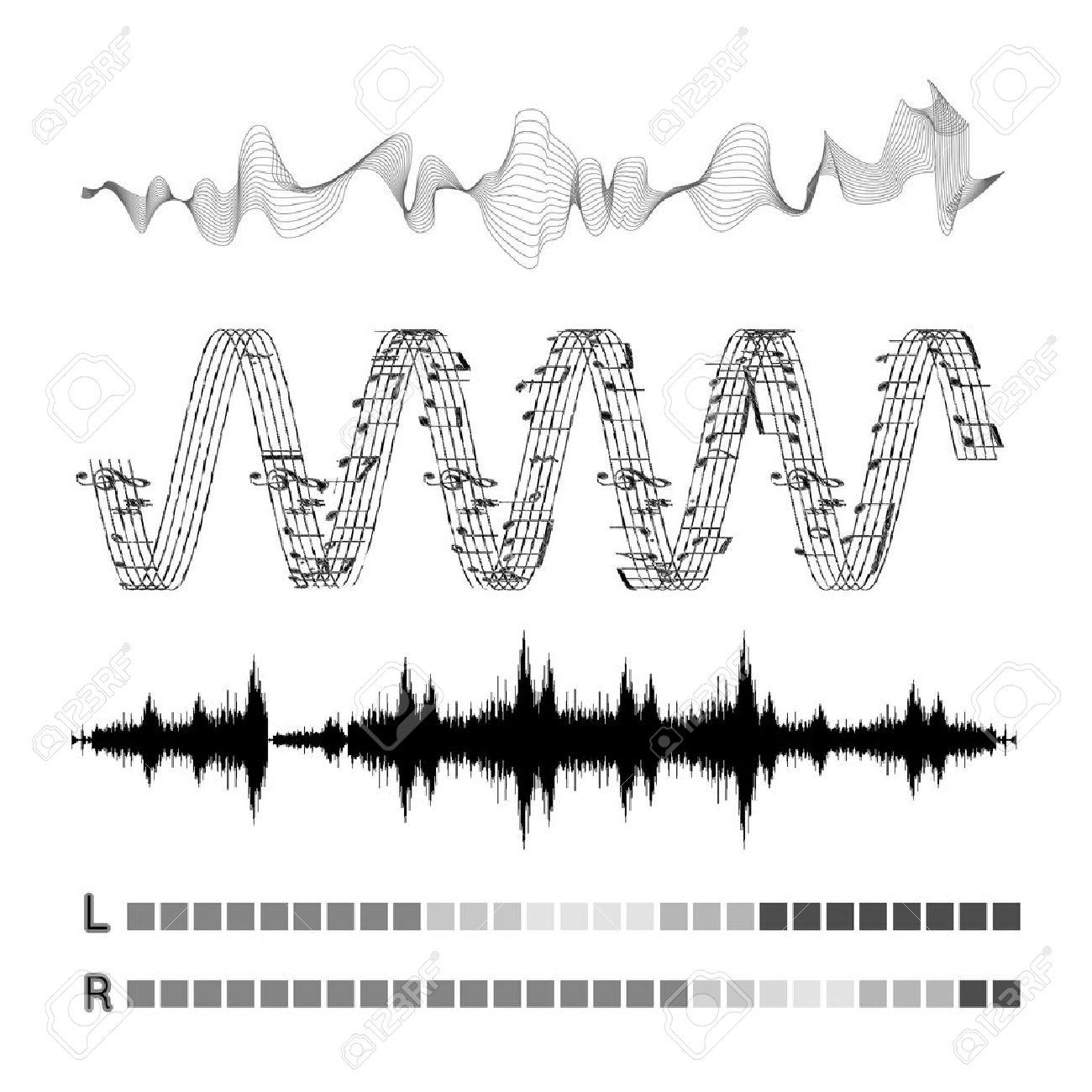 Vector sound waves set - 40874668