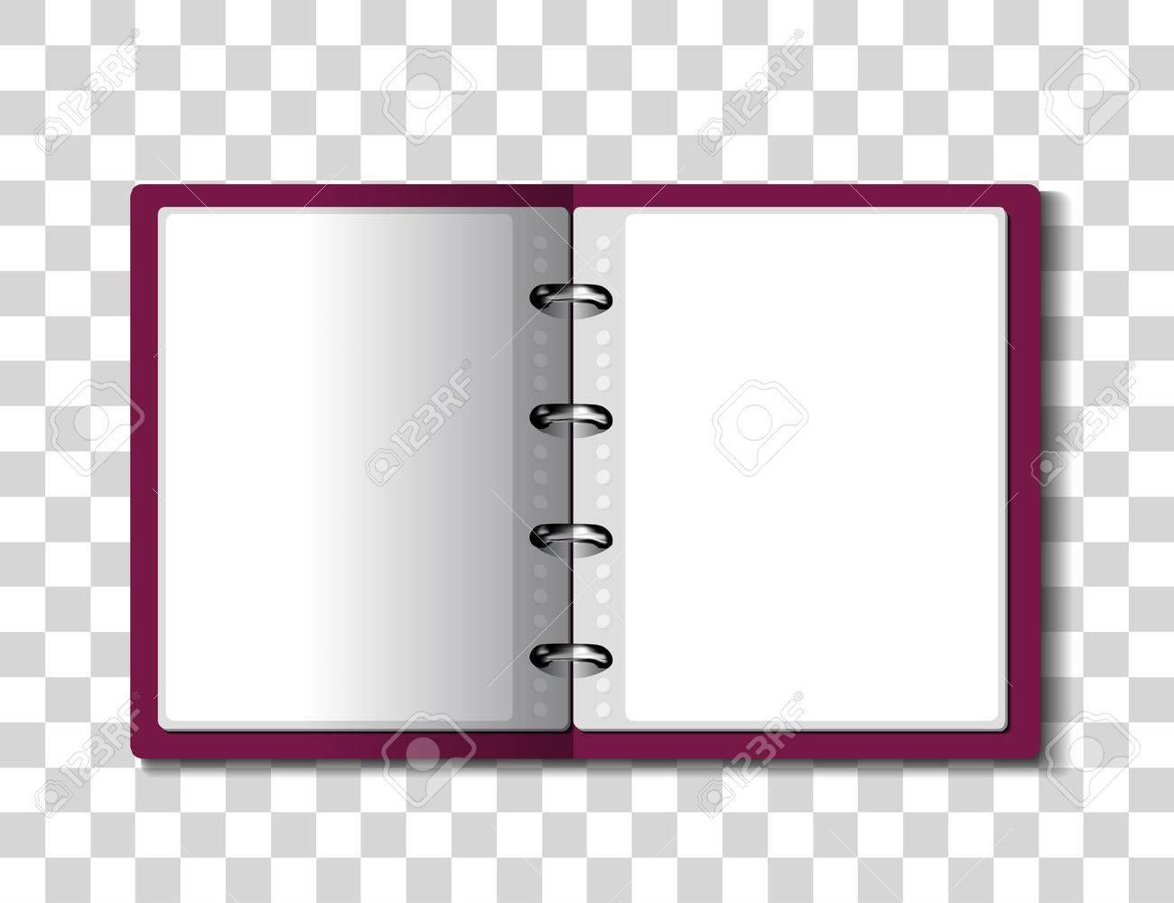 Red ring binder folder on checkered background. illustration - 55842506