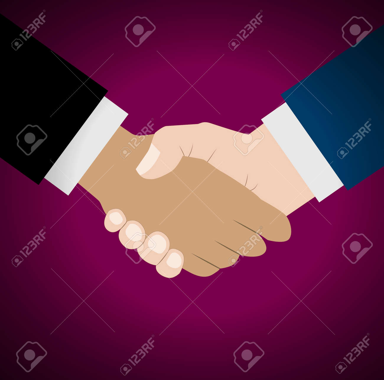 Handshake vector illustration. Background for business and finance - 60302406