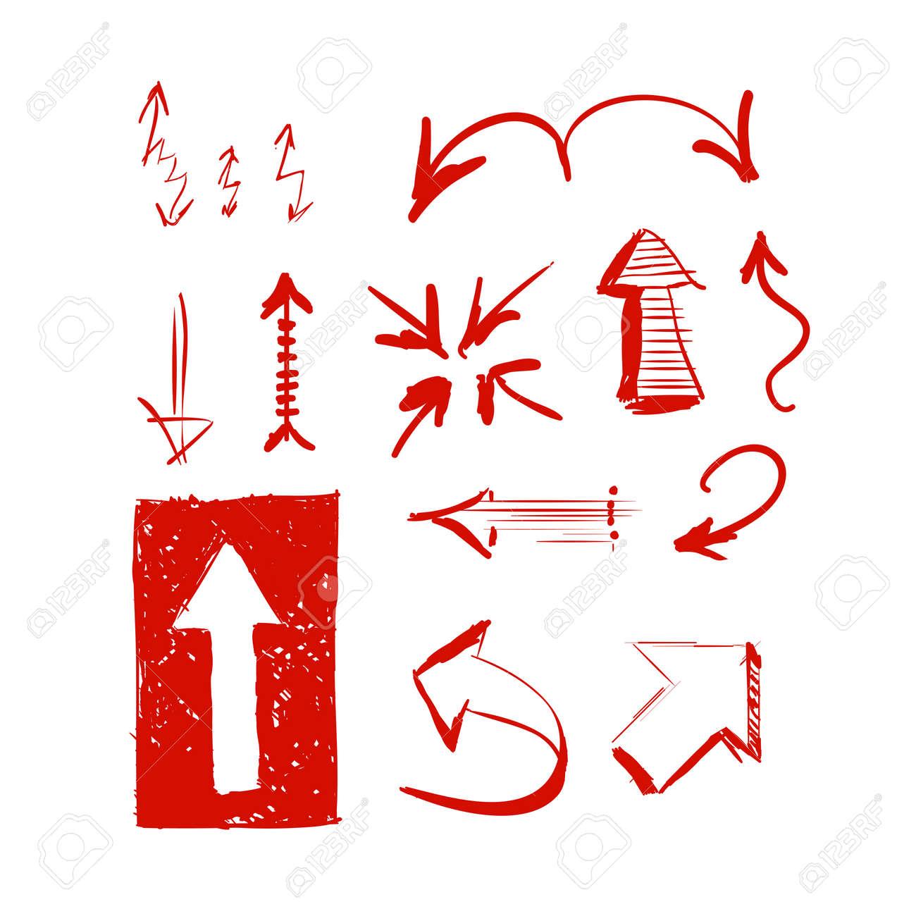 hand drawn highlighter elements vector arrows royalty free cliparts rh 123rf com vector arrows free vector arrows free download