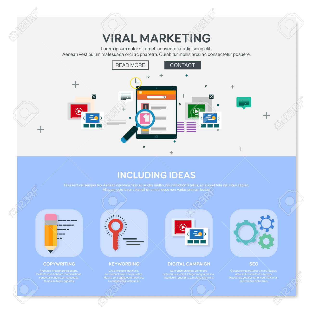One Page Web Design Template Of Viral Media Production Digital Marketing Service Social Engagement