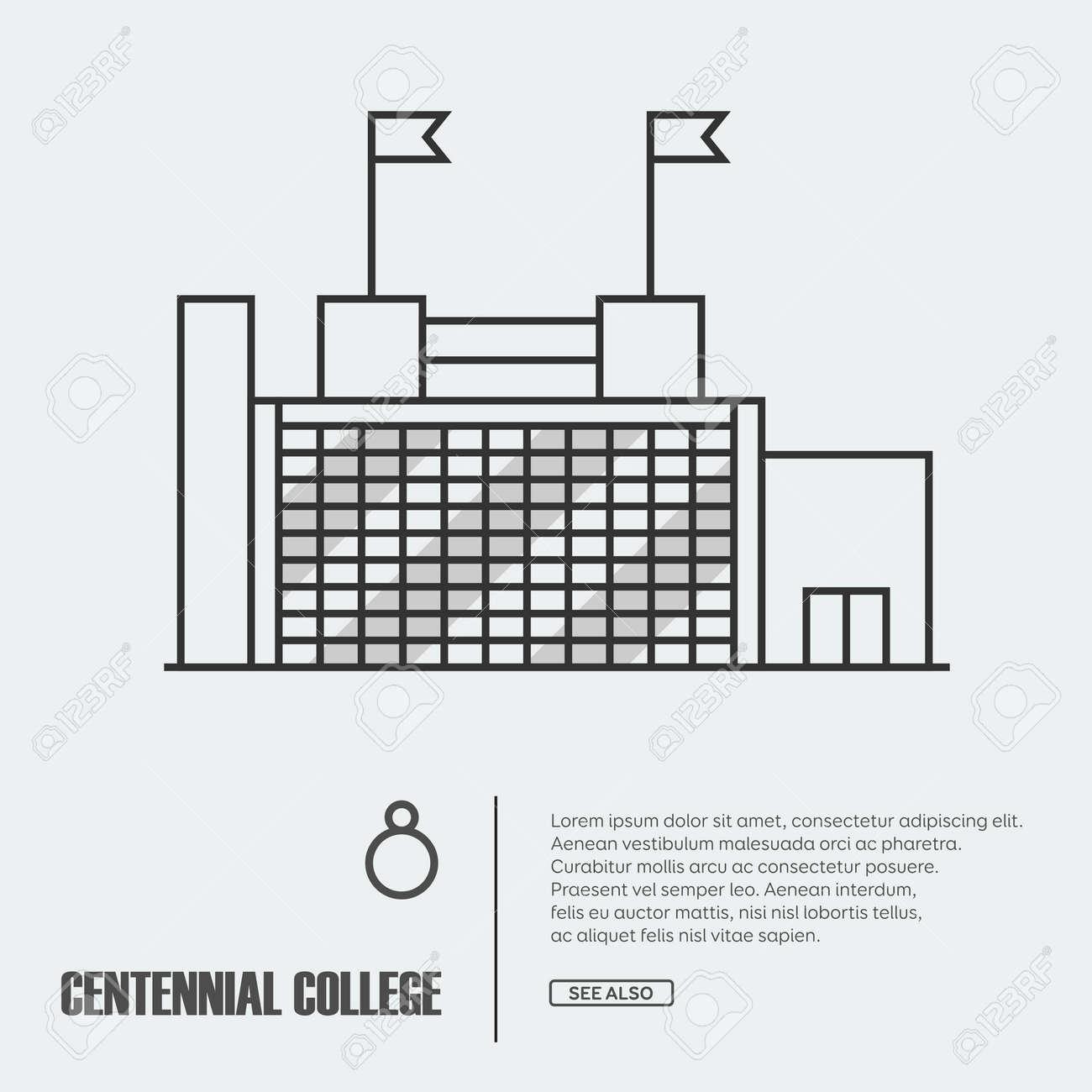 Coloriage Adulte Batiments.Illustration De Contour De Vecteur De La Facade Du Batiment Livre A